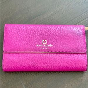 Kate spade used purple leather wallet